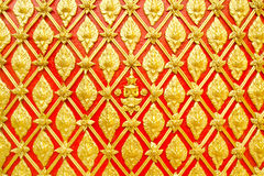 Stucco Thai pattern on wall Royalty Free Stock Image