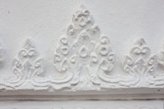 Stucco embossed, Thai style  on the wall Royalty Free Stock Photography