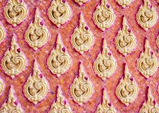 Stucco Thai style on the wall of the temple. Thailand Stock Images