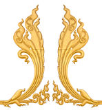 Stucco Thailand isolates golden Royalty Free Stock Image
