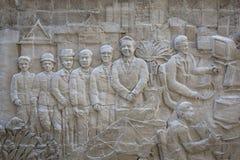 Stucco wall image of urban thai lifestyle traditional Stock Image