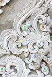 Stucco white sculpture decorative pattern Royalty Free Stock Image