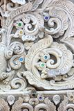 Stucco white sculpture decorative Stock Images