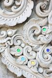 Stucco white sculpture decorative pattern Stock Images