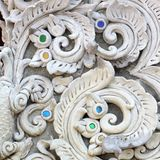 Stucco white sculpture decorative Royalty Free Stock Image