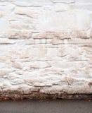 Stucco white wall in autumn Royalty Free Stock Photos
