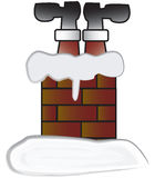 Stuck. Santa claus stuck in a chimney- eps file available Stock Photography