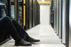 Stuck in the datacenter Royalty Free Stock Photo