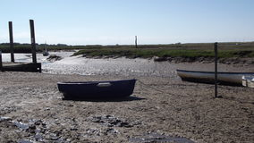 Stuck In The Mud. North Norfolk picturesque coastal scenery Royalty Free Stock Photography