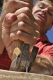 Stuck nail Royalty Free Stock Photo