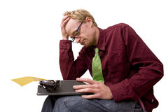 Stuck in old technology Stock Images