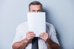 Stuck in paperwork. Stock Photography