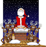 Stuck_santa_01 Stock Images