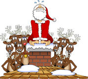 Stuck_santa_02 Stock Photography