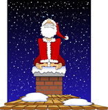Stuck_santa_03 Royalty Free Stock Image