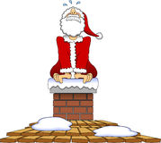 Stuck_santa_04 Stock Image