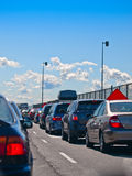 Stuck in traffic Royalty Free Stock Photo