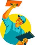 Stuckatör Masonry Trowel WPA royaltyfri illustrationer