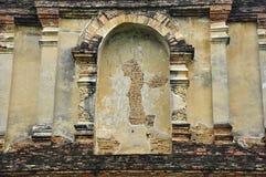 Stuckatur på kapell av Wat Chet Yod arkivbild