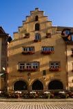 Stuckaturcafe i Tyskland Arkivfoto