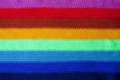 stucken regnbågescarf Arkivbild