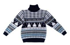 Stucken tröja med en snögubbemodell Arkivbilder