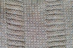 Stucken Woolen bakgrund, brun textur Royaltyfri Foto