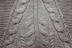 Stucken woolen bakgrund, grå färgtexturabstrakt begrepp Arkivbilder