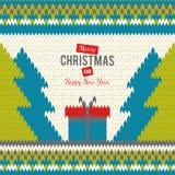 Stuckit hälsningkort till glad jul och nya år Arkivbild