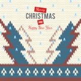 Stuckit hälsningkort till glad jul och nya år Arkivbilder