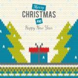 Stuckit hälsningkort till glad jul och nya år Royaltyfria Bilder