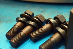 Stud bolt with washer Stock Image