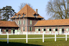Stud farm. The stud farm of Jardy, called in France Le Haras de Jardy, located between Paris and Versailles royalty free stock image