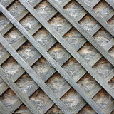 Stud wall with wooden slats on the diagonal Royalty Free Stock Photo