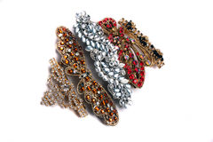 Studded Hair Clips Royalty Free Stock Photography