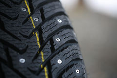 Studded tire Stock Photo