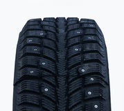 Studded winter tires Royalty Free Stock Photography