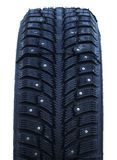 Studded winter tires Stock Photo