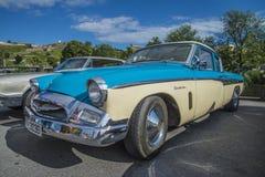 1955年studebaker冠军小轿车 免版税库存照片