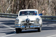 1950年Studebaker冠军轿车 库存图片