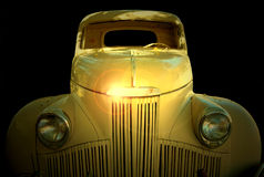 Studebaker. An old car isolated against a black background Stock Images
