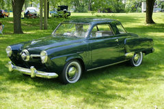 Studebaker champion. Picture of the 1950 Studebaker at vacm event at parc marie-victorin,longueuil Stock Image