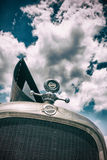 Studebaker Front Grill Against Sky Stock Image