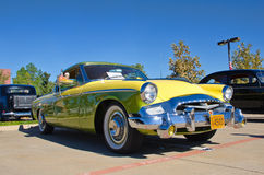 1955 Studebaker President Speedster. A 1955 Studebaker President Speedster, lemon-lime, is on display at the 3rd Annual Westlake Classic Car Show on October 19 Stock Image
