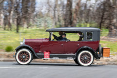 1925 Studebaker Standard Six Sedan. Adelaide, Australia - September 25, 2016: Vintage 1925 Studebaker Standard Six Sedan driving on country roads near the town Royalty Free Stock Images