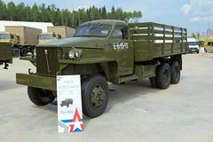 Studebaker US6. KUBINKA, MOSCOW OBLAST, RUSSIA - JUN 15, 2015: International military-technical forum ARMY-2015 in military-Patriotic park. The Studebaker US6 р Stock Photography