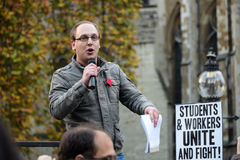 Studencka demonstracja dla Uwalniałam edukaci †'żadny cięcia, żadny opłaty, n Obrazy Stock