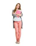 Studencka dziewczyna Folujący długość portret Obraz Stock