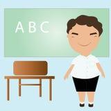 Studencka pozycja przed blackboard Obraz Stock