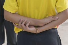 Studencka ręka zdjęcia royalty free
